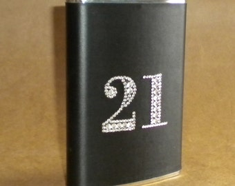 21st Birthday 30th, 40th or 50th Birthday or ANY Birthday or Wedding Anniversary Stainless Steel Gift  Hip Flask