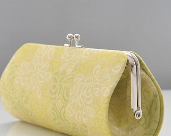Nature Elements in Pistachio..Small Clutch Purse