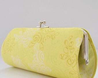 Nature Elements in Lemonade..Small Clutch Purse