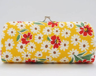 Flower in Yellow..Small Clutch Purse