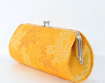 Nature Elements in Sweet Mango..Small Clutch Purse