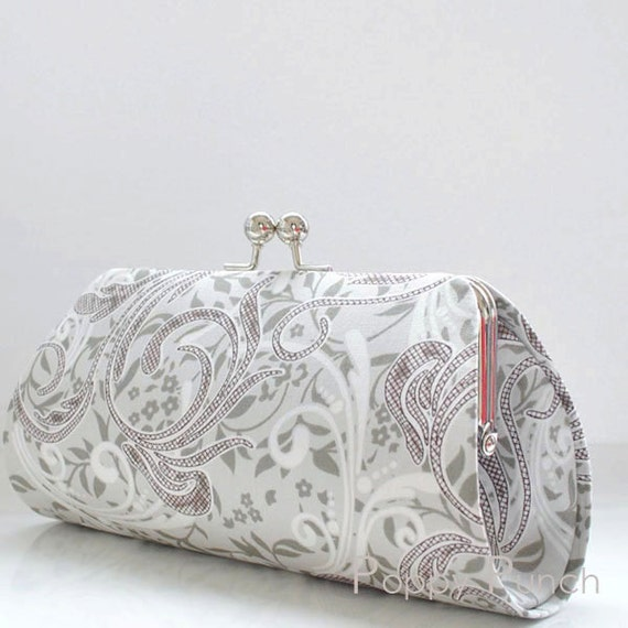 Flirt Power in Gray..Mediium Clutch Purse