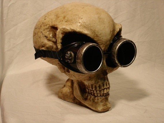 Steampunk Welding Goggles - Air Pirate edition in silver