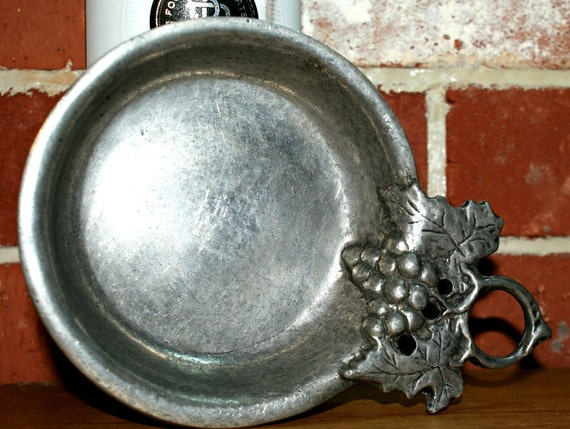 Pewter Wine Bottle Coaster Made in Italy