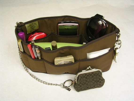 Purse To Go(R) Pockets Plus-Purse organizer insert transfer liner-Enclosed bottom-Change purses in seconds