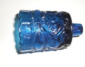 A Set of Five Vintage Pressed Glass Votives 4 Cobalt Blue 1 Red
