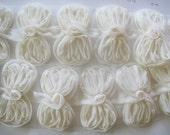 1/2yd organza ribbon chiffon trim -ivory 12pcs(D308ivory)