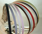 120PCS-5MM Highest Quality Book Grosgrain Ribbon headband with end rubber tip 10pcs of each color(E220-12colors)
