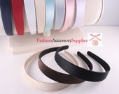 6pcs-25mm Handmade Satin Covered Plastic  Headband 11Colors- Choose Color(G122)