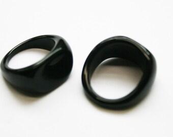 5pcs-15mm acrylic black ring -appr.7size(A100)