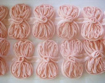 1yd-Organza ribbon chiffon trim- 24pcs(D308-Peach)