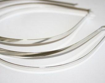 Metal Headbands Bent Ends-24pcs-5mm Shine Silver -Premium Quality (E200-24)