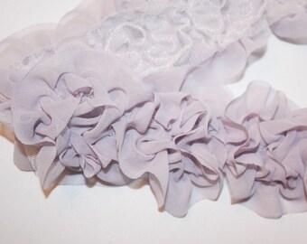 1/2yd-9pcs(65mm) organza flower trim 5colors for hair accessory,clothing,deco,etc.-Lilac(F200-LI)