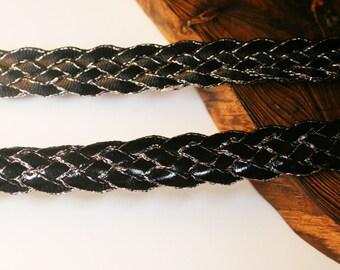 2Yd-14mm 5strings Twist Shine Ribbon 2colors(F238-Black)
