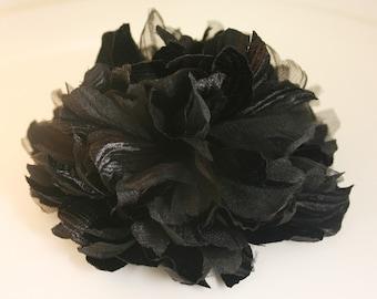 2pcs100mm Large Satin,Organdy flower for corsage,shoes,accessory etc.5colors(F230black)