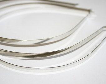 6pcs-5mm Shine Silver Metal Headbands Bent Ends-Highest Quality (E200-6)