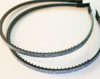 10Pcs-5MM Handmade Glitter Plastic Teeth Headband 8Colors (F240-silver)