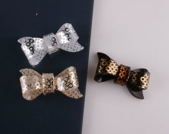 30pcs- Ribbon Bow Celluloid Cabochon For Accessory,jewely,Bag,Art deco and more-10of each color(C566)