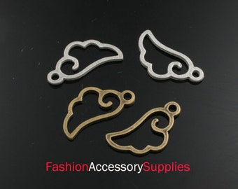 10pcs-20mm Bronze Patina Wings charms,Pendants(silver-Sold out)(A178)