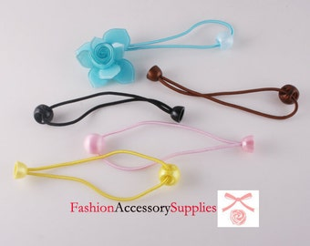 100pcs-Hair elastic ponytail Plastic ball -20 of each colors (E242)