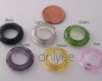6pcs-20mm Swarovski Crystal Ring Pendant High Quality Detail 6Colors-(L103)