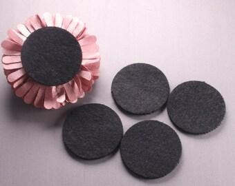 "200pcs-Felt Round Kraft Circle 40mm(1.57"")-Black Color (G112)"