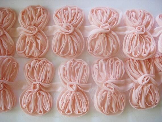1/2yd-Organza ribbon chiffon trim- 12pcs(D308-Peach)