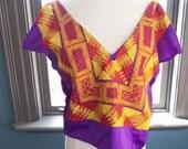 Inner FRIDA... vintage embroidered v-neck blouse (s - m)