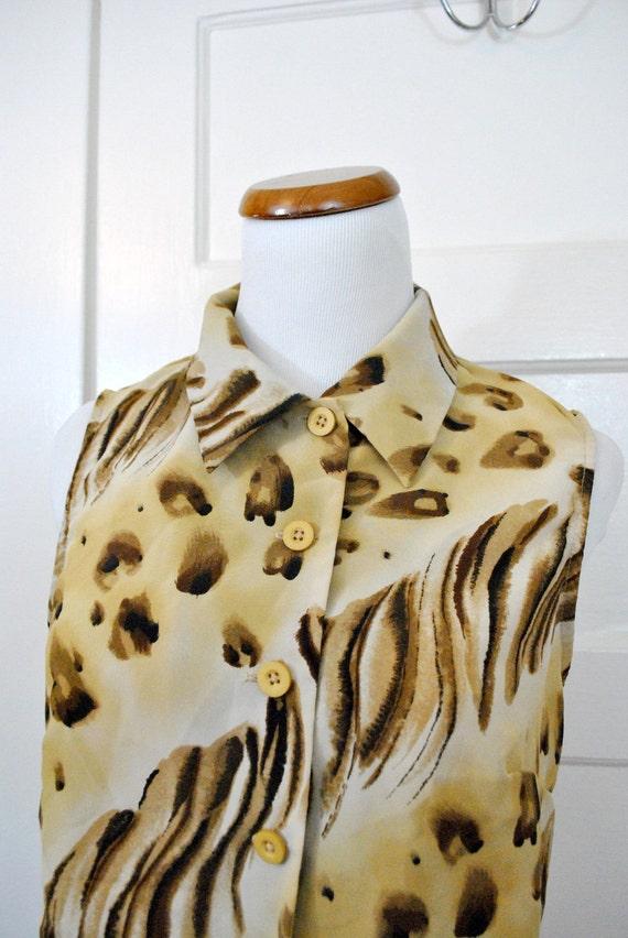 Vintage Leopard 90s Knot Crop Top
