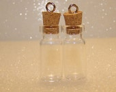38mm Glass Bottle Charm Cork Stopper 2pc