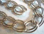 Extra Large Double Link Twisted Oval 30 inch Chain in Silver