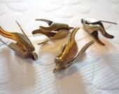 Oxidized Brass Tulip Bead Caps - Qty 2