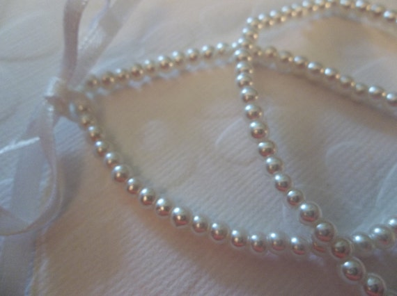 3mm White Round Glass Pearls - Qty 230 Beads