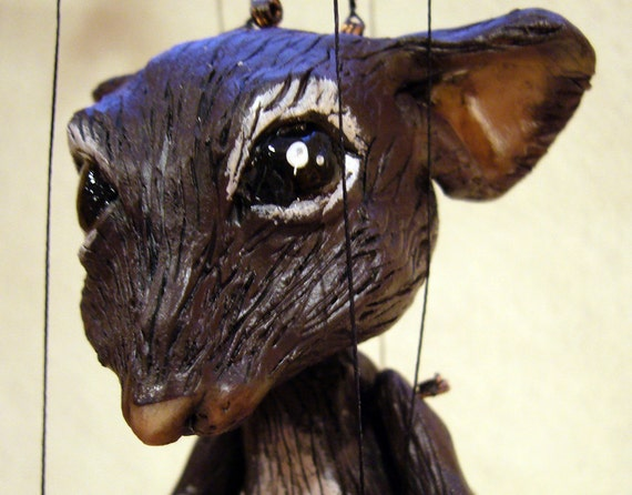 mouse marionette, (made to order) hand-made, OOAK