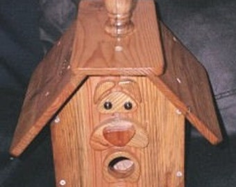 Old Man Birdhouse  BUILT TO ORDER (Large Birdhouse)