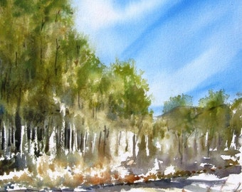Up In The High Country - Original Watercolor Painting