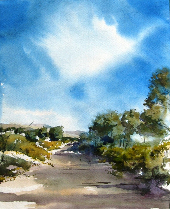 Arroyo Chamiso II - Original Watercolor Painting