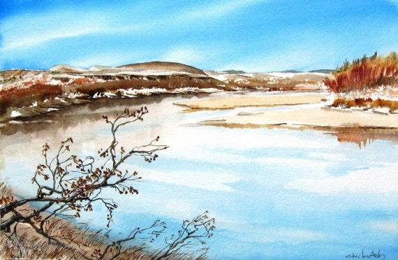 Rio Grande - Original Watercolor Painting