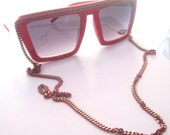 SALE RED and GOLD CHAIN SUNGLASSES