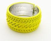 Neon Yellow Lucite Cuff