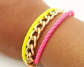 SALE Use Code baby10 for 15% Off Neon Friendship Chain Bracelet