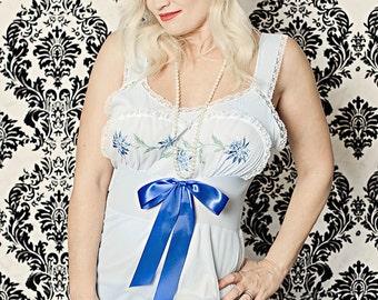 "Beautiful Baby Blue 1950s Vintage Gown-Treasury Item-""Blue Moon"""