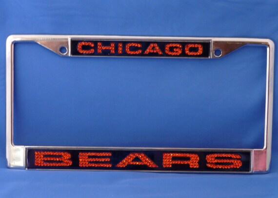 Chicago Bears Crystal License Plate Frame
