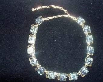 Vintage 1970's Signed Coro Goldtone & Thermoplast Necklace