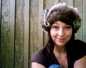 Knitted Russian Rabbit Fur hat