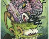 Think Fink - signed 11X17 art print