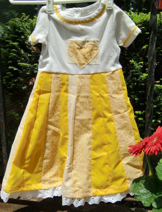Sunshine Girl Upcycled Dress Size 2t