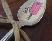 Vintage Spoon Tulip Plant Marker