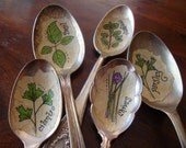 Vintage Spoon Plant Markers Custom Set of 5