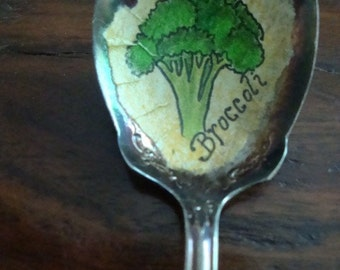 Vintage Spoon Broccoli Plant Marker